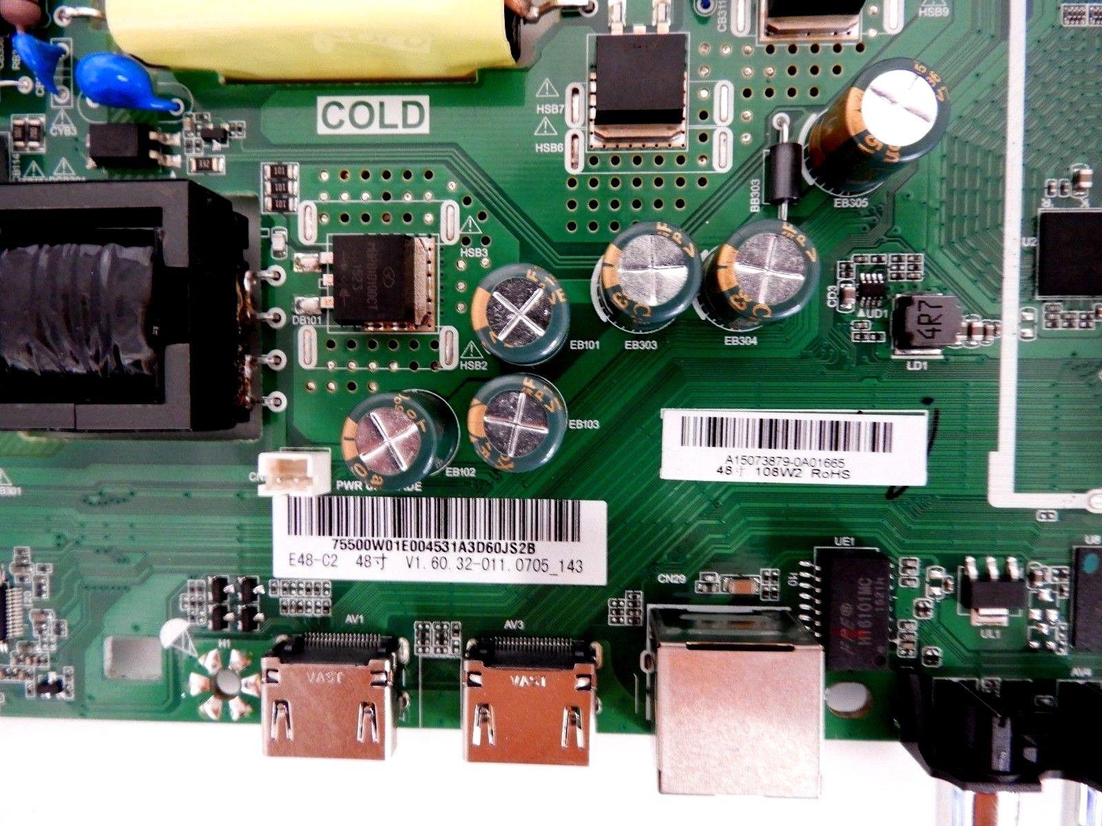 Vizio E48 C2 Power Supply Main Board 755 00w01 E004 Tv