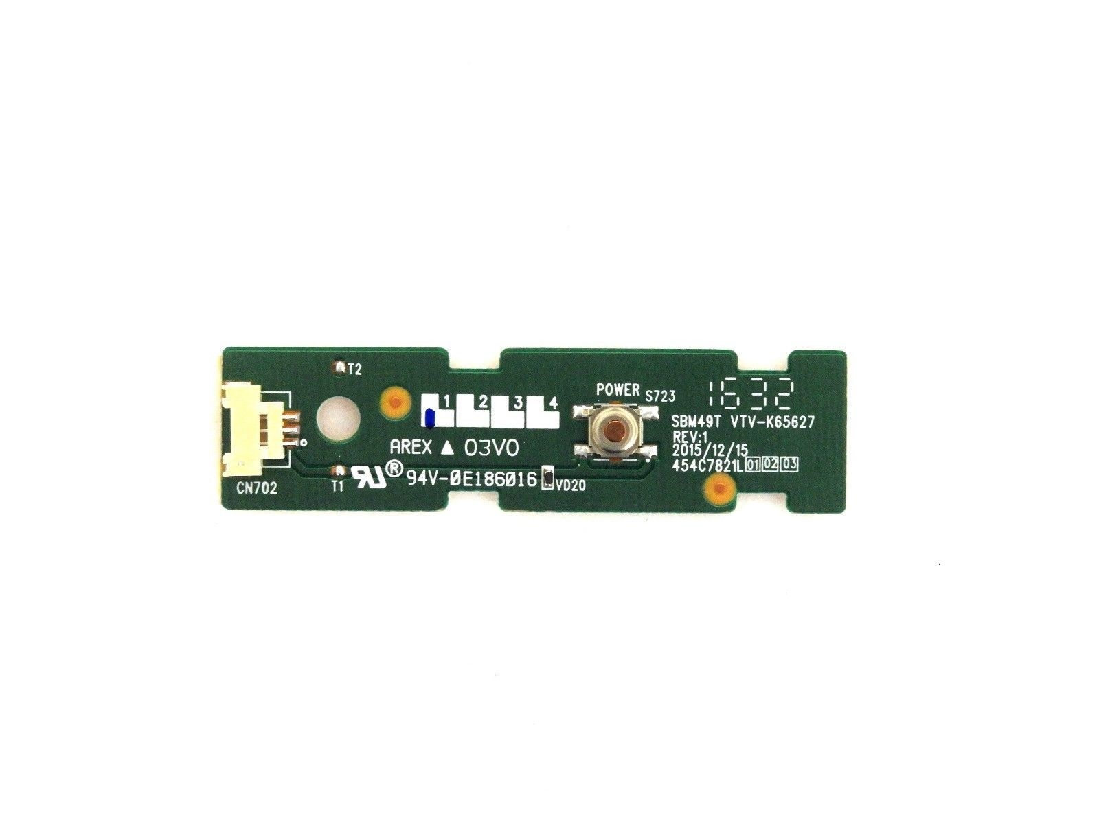 Toshiba 49L621U Power Button Board 454C7821L01