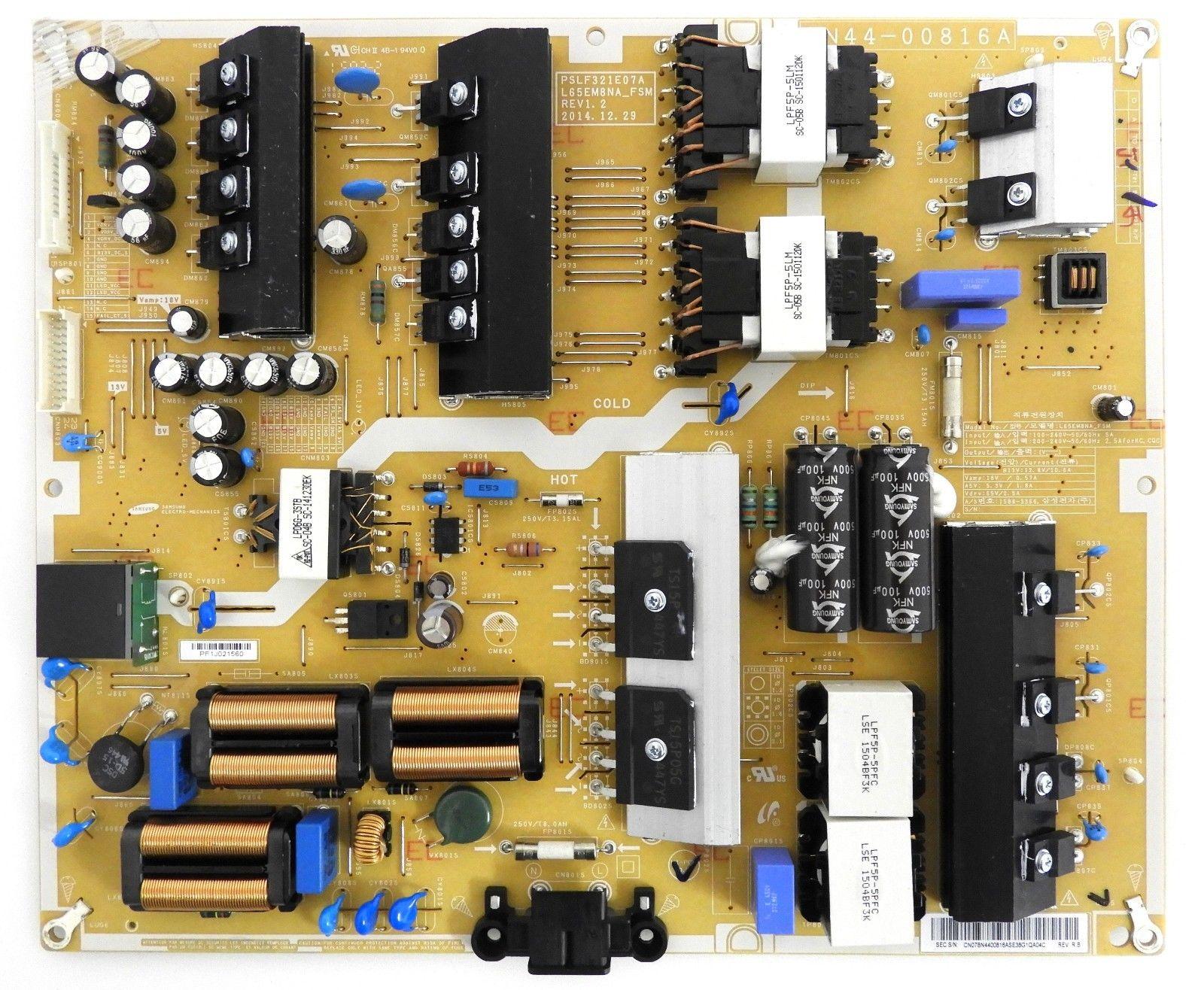 Samsung Un65js9000f Power Supply Board Bn44 00816a Tv