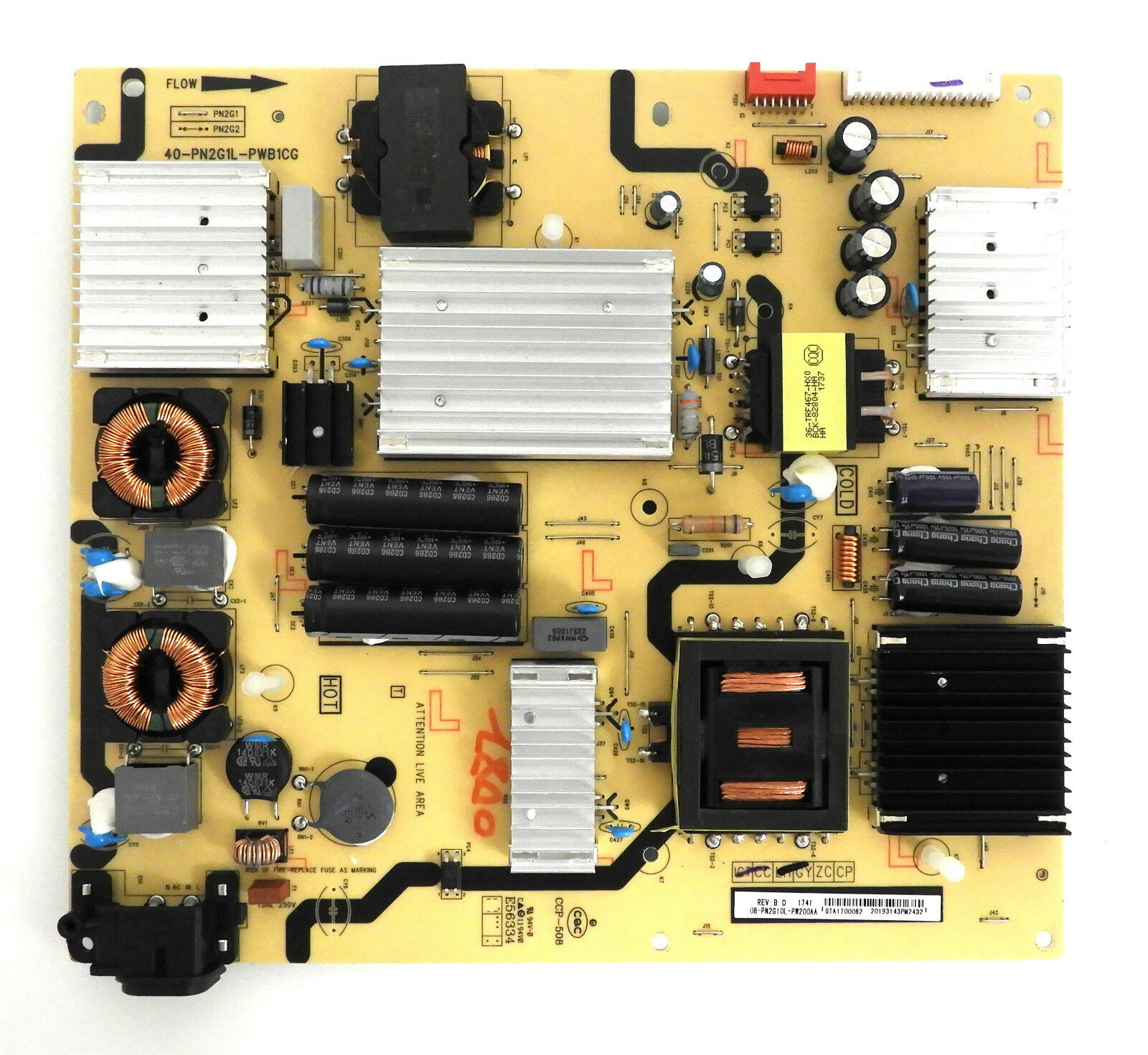 TCL 55P605 Power Supply Board 08-PN2G10L-PW200AA