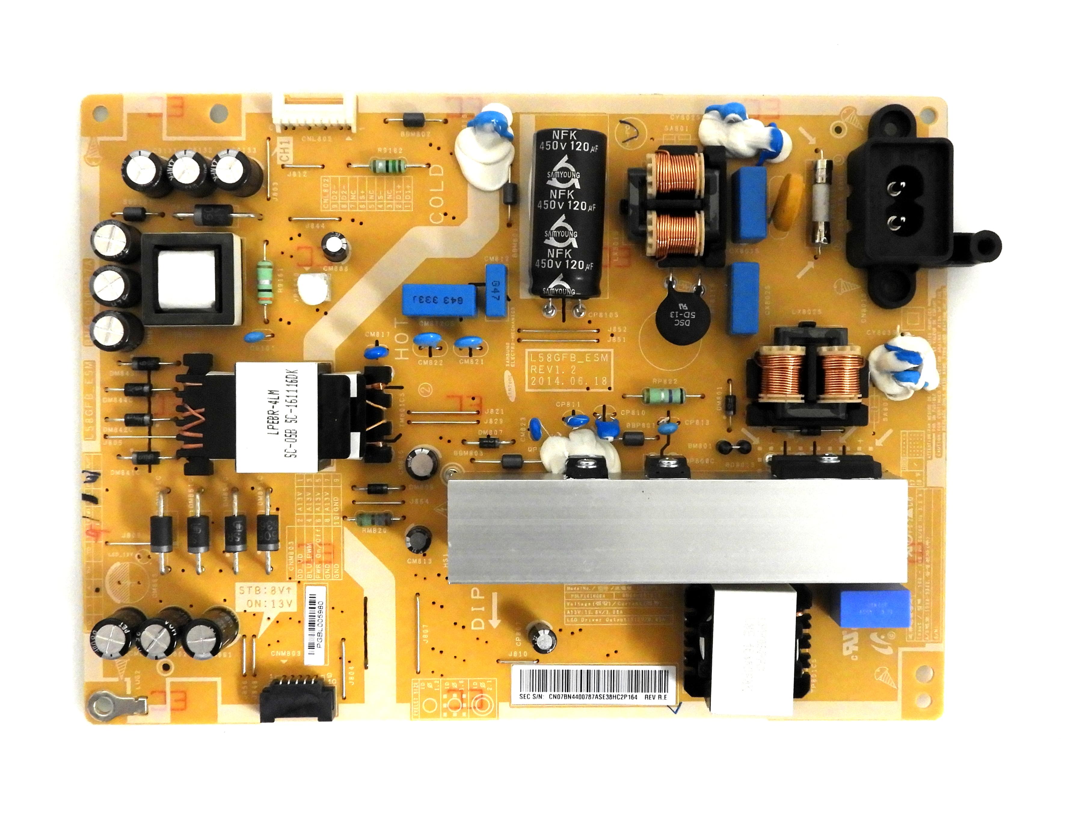 Samsung Un58j5190af Power Supply Bn44 00787a Tv Parts Home
